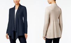 Style & Co. Ribbed Open-Front Cardigan, Only at Macy's - Sweaters - Women - Macy's