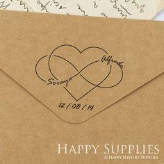 Custom Personalized Wedding Stamp B05 door HappyJewelrySupplies