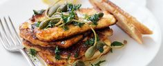 Haloumi with Caperberries and Parsley recipe, brought to you by MiNDFOOD.