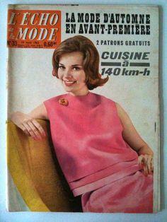 L'echo de la mode n° 33 année 1962