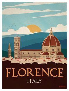 Image of Vintage Florence Poster #vintagetravelposters