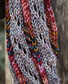 Free Pattern: Sugar Stick Scarf by Kristine Byrnes