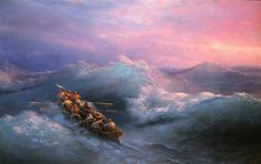 The Shipwreck - Ivan Aivazovsky - Completion Date: 1884