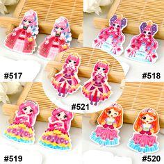 50pcs/lot Mixed Cartoon Character Princess Flat Back Resins Kawaii DIY Planar Resin Crafts for Home Decoration Accessories