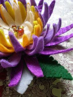 Purple Chrysanthemum felt flower