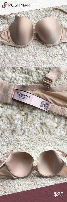 VS nude Demi bra Nude Victoria's Secret lined Demi bra. Great condition. Size 38D. ❗️Sorry, I do not trade.❗️ Victoria's Secret Intimates & Sleepwear Bras