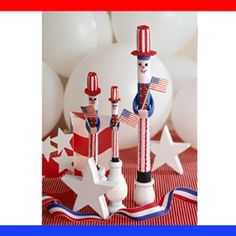 Uncle Sam on Parade Plastic Canvas ePattern - Uncle Sam waves Old Glory for a rousing salute to the Fourth of July or any other patriotic event! Stitched on 7, 10, and 14 mesh plastic canvas and mounted in your candle holders, he'll make a spirited addition to your tabletop decorations. The design is stitched using worsted weight yarn for the 7 mesh and 10 mesh designs and embroidery floss for the 14 mesh design. Number of Designs: 1 standing Uncle Sam in 3 sizes Approximate Design Size…