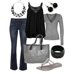 """""""dressy casual"""" by htotheb on Polyvore Just minus the flip flops and replace with ballet flats for me please!"""