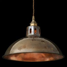 Paris industrial brass pendant is designed and manufactured by Mullan Lighting Design in Ireland. This beautiful industrial pendant works well in a variety of settings: kitchen island lighting, restaurant lighting, pub lighting. #industrialpendants