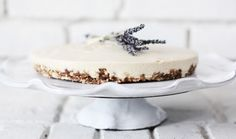 raw lavender and honey cheesecake