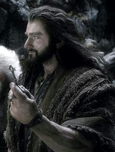 Richard Armitage / Thorin Oakenshield / Is this the only time he smiles in the whole movie? lol pretty sure.