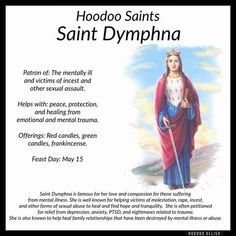 Hoodoo Saints: Saint Dymphna (posted by Eleanor) – Witches Of The Craft®