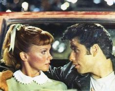 Grease: John Travolta and Olivia Newton-John John Travolta, Olivia Newton John, Movies And Series, Movies And Tv Shows, Beatles, Grease Lightening, Sandy And Danny, Grease Movie, Grease 1978