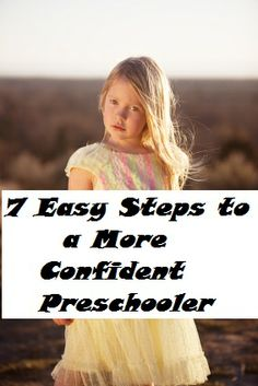 Kindergarten & Preschool for Parents & Teachers: How to Build Self-Esteem in Young Children