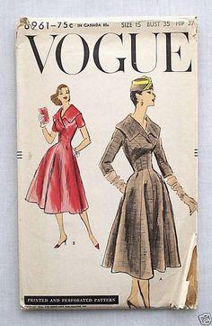 Vogue 8961, ca. 1956; sold 10/8/12 on eBay for 16.49