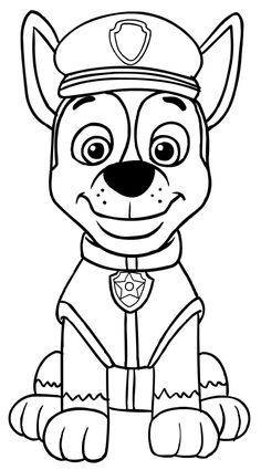 Paw Patrol Chase coloring pages printable and coloring book to print for free. Find more coloring pages online for kids and adults of Paw Patrol Chase coloring pages to print.