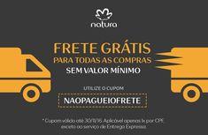 Tem frete grátis na Rede Natura Espaço Carolina do Valle http://rede.natura.net/espaco/carolinadovalle , com o cupom NAOPAGUEIOFRETE!  Aproveite! Cupom válido até 30/11/16. Aplicável apenas 1x por CPF, exceto ao serviço de Entrega Expressa.  #Brasil #Natura #FreteGrátis #ConsultoraNaturaDigital #RedeNaturaEspaçoCarolinadoValle #Cupom #Promoção #Desconto