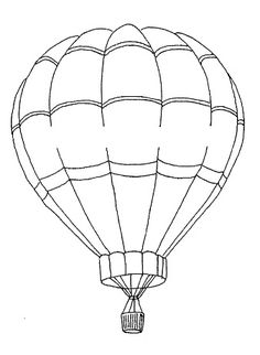 Frantic Stamper Cling-Mounted Rubber Stamp - Medium Hot Air Balloon