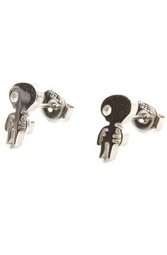 The Zombie Earrings in Silver by *Accessories Boutique