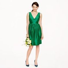 8d88f076d6 Hope dress in silk dupioni Green Cocktail Dress