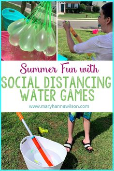 Enjoy some safe summer fun with these social distancing water games for your kids and their friends. Play water squirters, water balloons, target toss, walking dunking booth and more. Social distancing summer fun has never been easier. Use these ideas to plan a summer birthday party for your child that everyone can enjoy while staying safe.