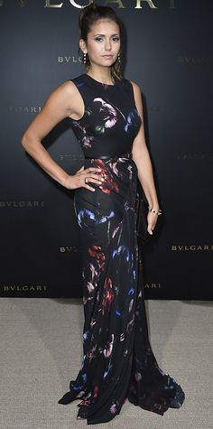 Look of the Day - July 9, 2014 - Nina Dobrev in Elie Saab from #InStyle
