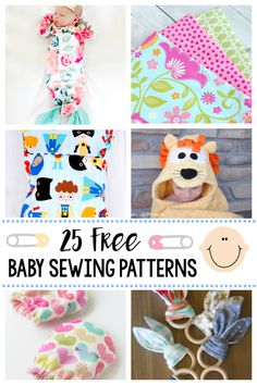 25 Free Baby Sewing Patterns-Great things to sew for baby with these cute patterns. Everything from clothes to burp cloths, great baby gifts and things the new mom will need. #sewing #sewingpatterns #sewingtutorials #freesewingpatterns #baby #thingsforbaby