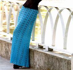Maxi skirt crochet, crochet skirt PATTERN, sexy crochet maxi skirt, elegant crochet skirt, detailed description in English, instant download