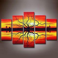 Sunset 5-panel Canvas Wall Art Set - AU$180.74 : Homary.com