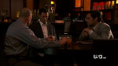 "Burn Notice 4x12 ""Guilty as Charged"" - Michael Westen (Jeffrey Donovan), Adam Scott (Danny Pino) & Dale Lawson (Michael Rooker)"