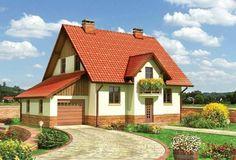Proiect casa cu garaj lipit Style At Home, Home Fashion, Exterior, Cabin, Rustic, House Styles, Home Decor, Furniture, Atelier