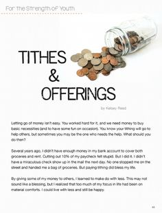 Stand & Shine Magazine: Tithes & Offerings