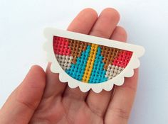 Semicircular Burst Brooch with Bright Triangle by esthersandler, $38.00
