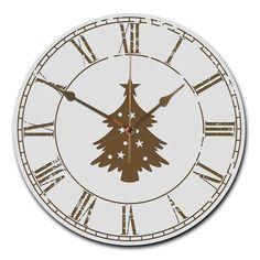 Wanduhr rund Weihnachtsbaum aus MDF  Weiß - Das Original von Mr. & Mrs. Panda.  Eine wunderschöne runde Wanduhr aus hochwertigem MDF Holz mit goldenen Zeigern und absolut lautlosem Uhrwerk    Über unser Motiv Weihnachtsbaum  Ein Weihnachtsfest ohne einen schön geschmückten Baum ist undenkbar. Er ist ein Symbol für Kindheitsträume, schöne Erinnerungen an familiäre Abende und Lichterglanz & Geschenkezauber.     Verwendete Materialien  ##MATERIALS_DESCRIPTION##    Über Mr. & Mrs. Panda  Mr…