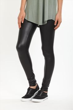 Wet look leggings cotton on