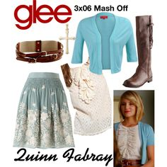 Quinn Fabray (Glee) : 3x06 by aure26 on Polyvore featuring Derhy and glee