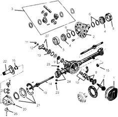 Kubota L2900 Front Axle Diagram