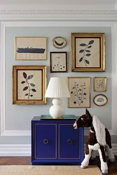 Christiane Lemieux's New Book, The Finer Things | Rue | lovely art wall with herbariums