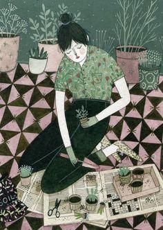 Yelena Bryksenkova - flower girl