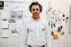 [Tom Sachs wearing Selima Optique's 'Mike' frames]