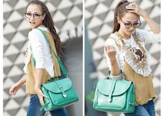 Wholesale Stylish Casual Vintage Women's Tote Bag With Candy Color and Belts Design (GREEN), Tote Bags - Rosewholesale.com