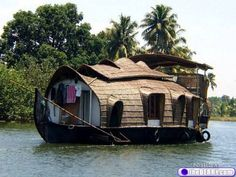 You know... that's kinda cool ;)  It's a Hobbit house boat....