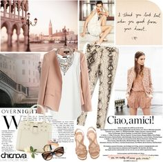 """Ciao, Venice"" by electric-bird ❤ liked on Polyvore"