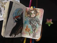 Number 184 of Kenneth Rocafort's 365 day sketch project (2014).