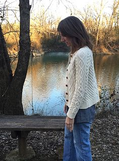 My sweater from the Fringe and Friends Knitalong of Fall 2014.  Mod summary:  – Minor details: tubular cast-on, and I worked the diamond cables so they twist toward each other instead of all one di...