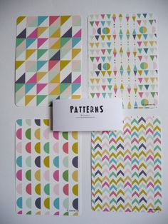 Cards Chevron Geometric and colors print por mademoiselleyo