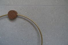 Brass towel ring on