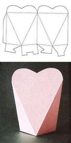 caixa de coração molde