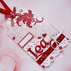Beautiful mixed media tag!