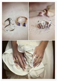 omg the crystal ring on the right. I love! reveriemag.com